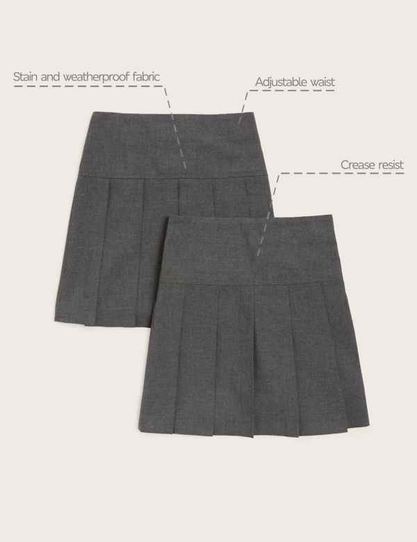 c762ec6e75 2 Pack Girls' Pleated Skirts