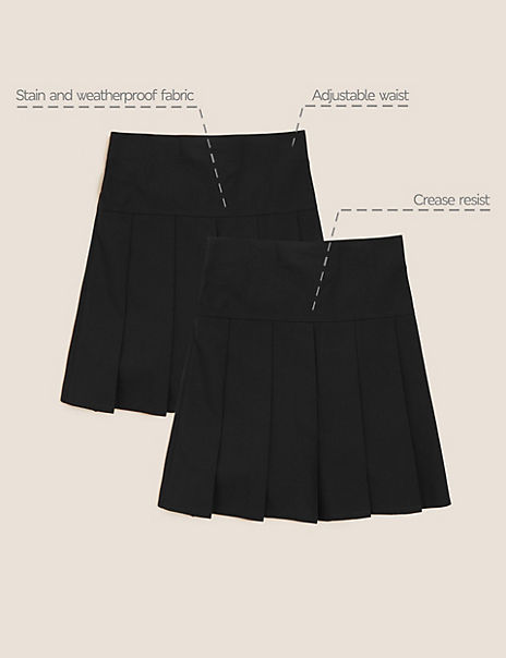 2 Pack Girls' Pleated Skirts