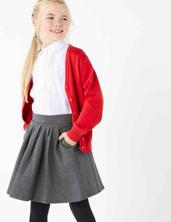 1f8a37bb7b Girls' Cotton Rich Pleated Knitted Skirt