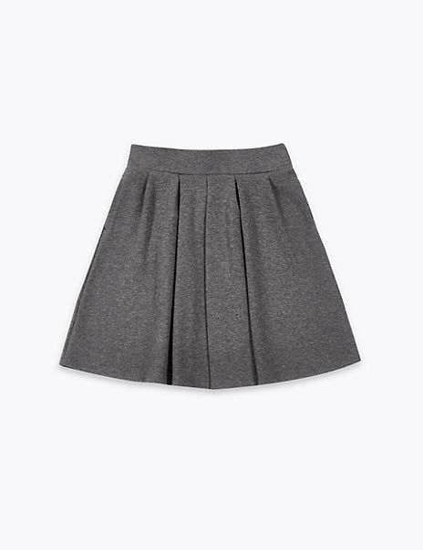 Girls' Cotton Rich Pleated Knitted Skirt