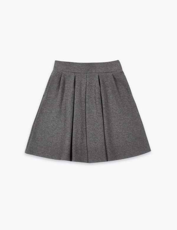 0a49eea827 Girls' Cotton Rich Pleated Knitted Skirt