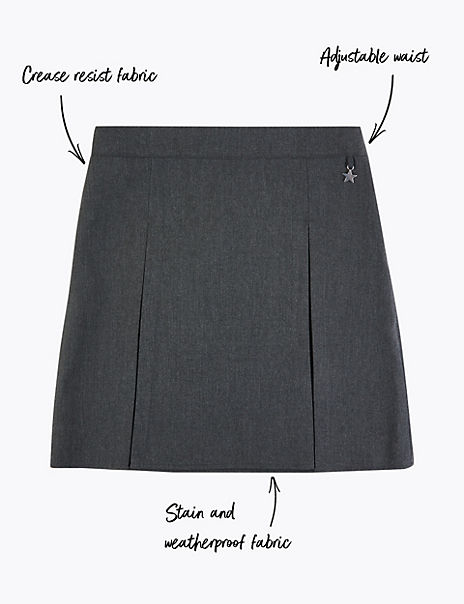 Girls' Pleated Charm Skirt