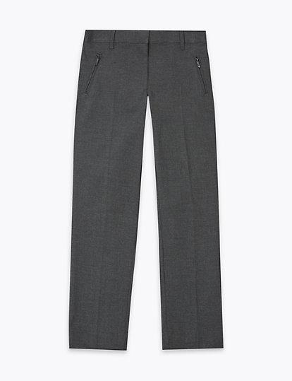 Boys School Uniforme Pantalon Wear Pantalon Coupe Standard Entretien Facile Gris