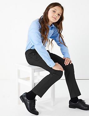 Girls Additional Length Slim Leg Trousers