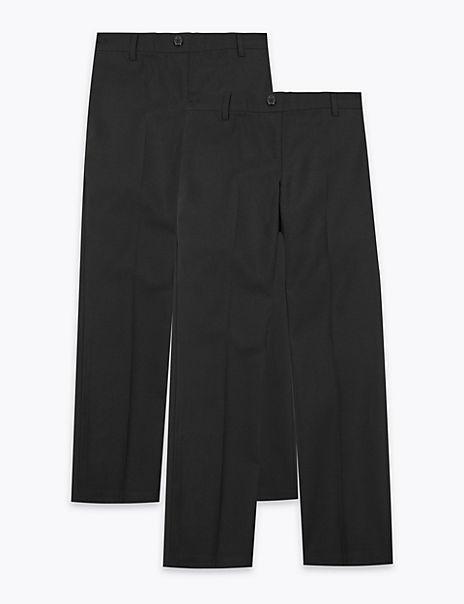 2 Pack Girls' Adaptive Trousers