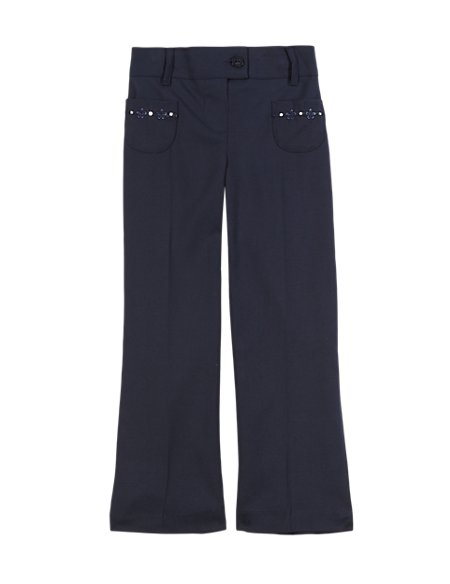 Girls' Embroidered Trousers