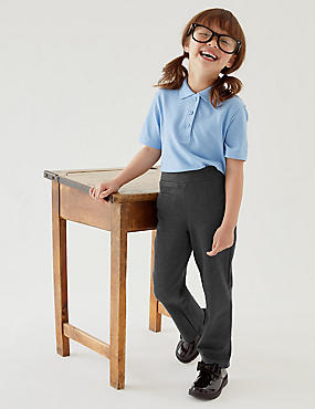 Girls' Regular Leg Knitted School Trousers (2-16 Yrs)