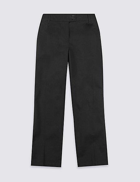 Girls' Pure Cotton Regular Leg Trousers