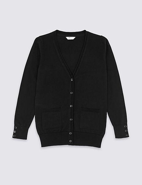 Senior Girls' Pure Cotton Cardigan