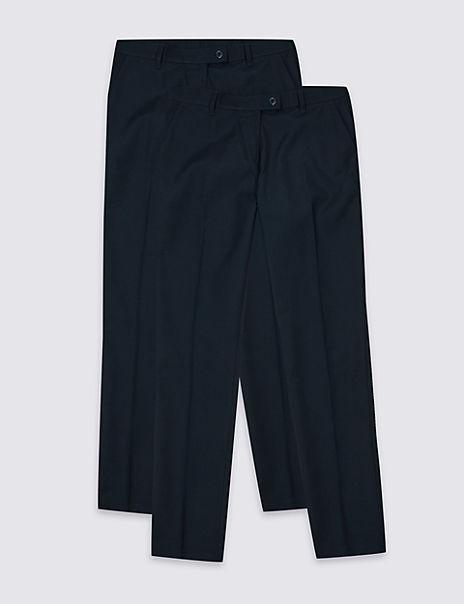 2 Pack Girls' Skinny Leg Trousers