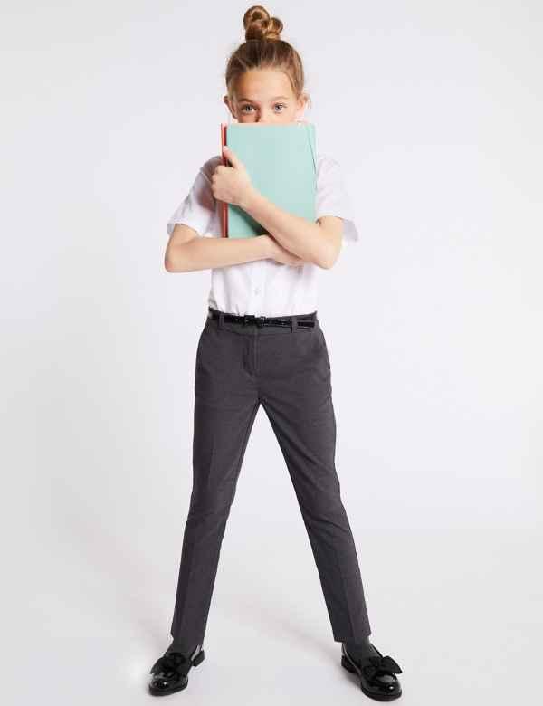 ad9a30c4b07 Girls  Slim Fit Skinny Leg Trousers