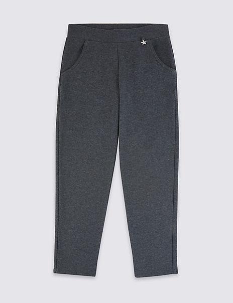 Girls Jersey Skinny Trousers