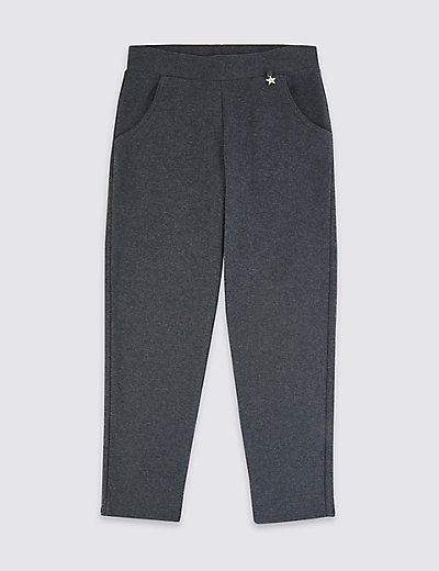 Girls' Jersey Skinny Charm Trousers Clothing