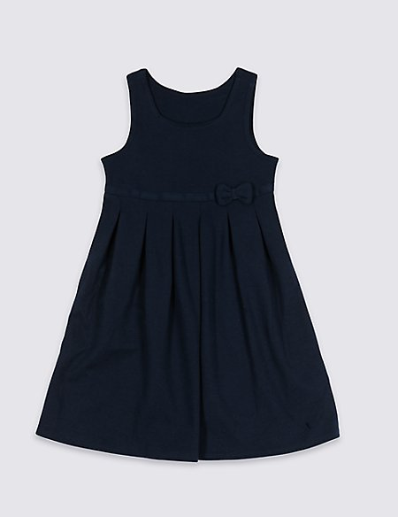 Girls' Cotton Rich Knitted Pinafore