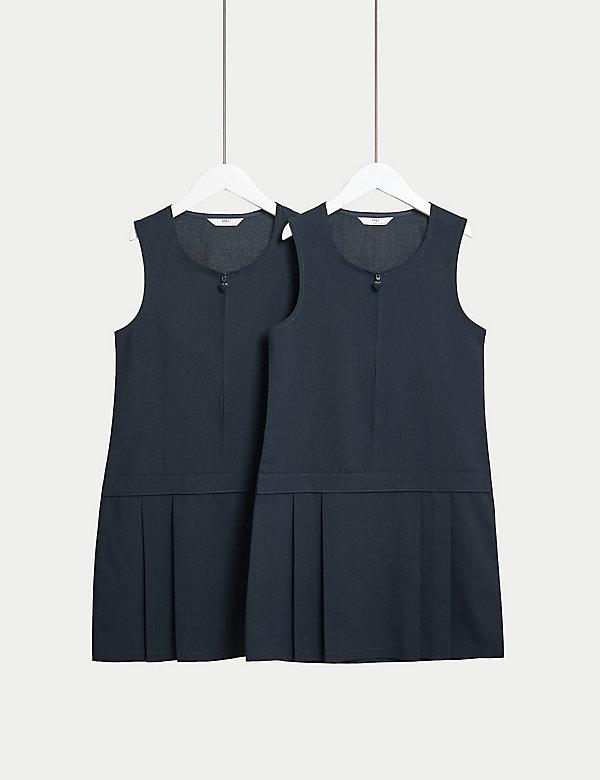 Set van 2 kreukvrije schoolovergooiers voor meisjes (2-12 jaar)