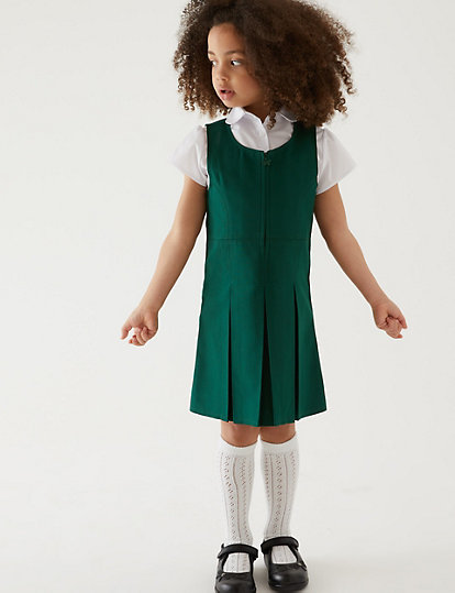 1d866a0db Girls' Permanent Pleats Pinafore | Dresses & Pinafores | Marks and ...