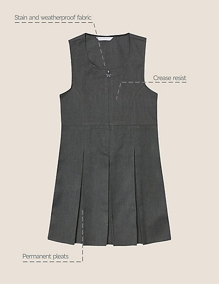 Girls' Pinafore with Permanent Pleats