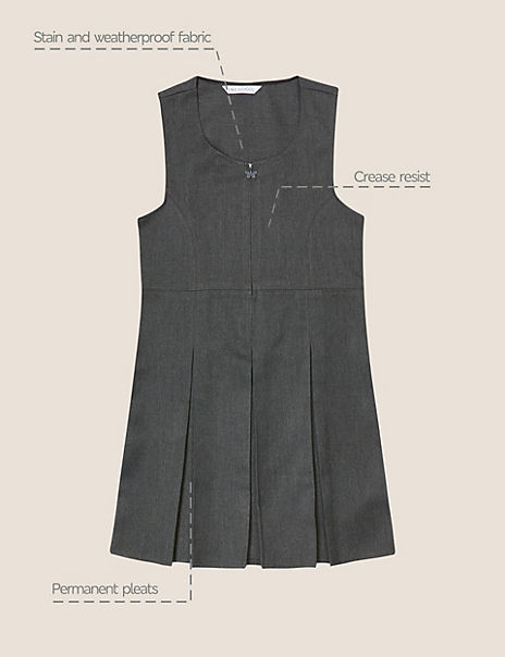 Girls' Longer Length Pleated Pinafore