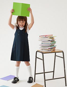 Schoolovergooier met permanente plooi voor meisjes (2-12 jaar)