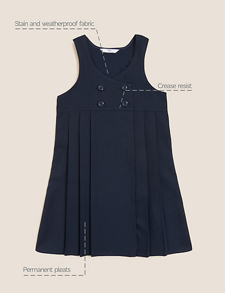 Girls' Permanent Pleats Pinafore