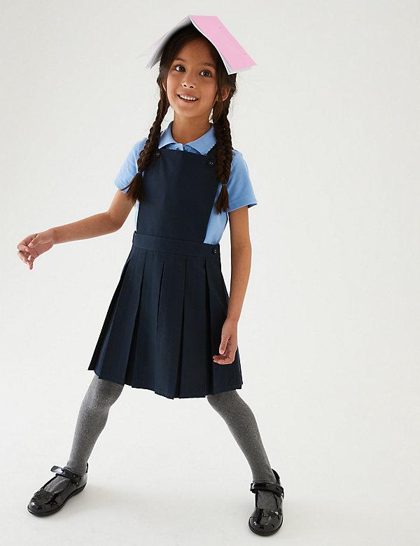 Robe chasuble à plis permanents, idéale pour l'école (du 2 au 12ans)