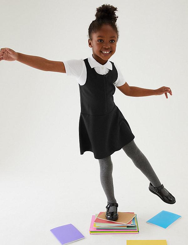 Kreukvrije schoolovergooier in skatermodel voor meisjes (2-12 jaar)