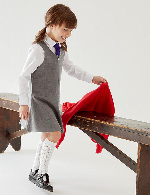 Set van 2 skaterschoolovergooiers met normale pasvorm voor meisjes (2-12 jaar)