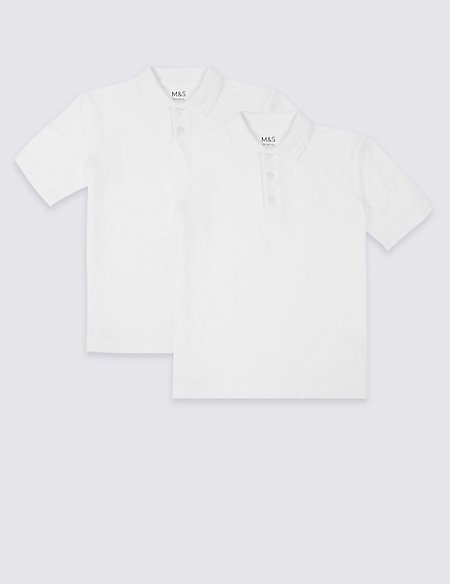 2 Pack Skin Kind™ Unisex Pure Cotton Polo Shirts