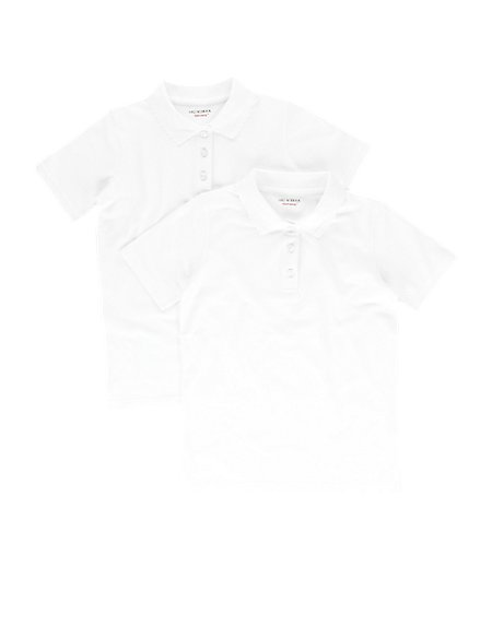 3 Pack Girls' Slim Fit Polo Shirts