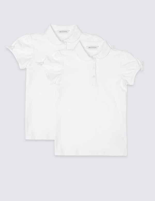 e9f3d6b614f Girls' School Shirts, Blouses & Polo Shirts | M&S