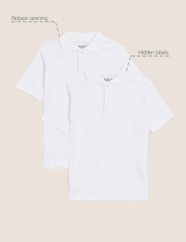 d77405099e0 2 Pack Unisex Easy Dressing Pure Cotton Polo Shirts