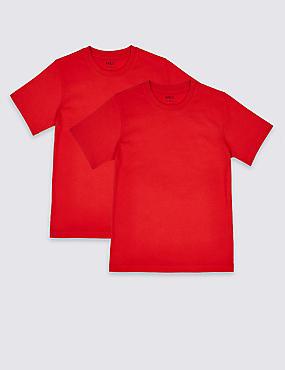 2 Pack Unisex Pure Cotton T-Shirts