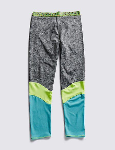 Colour Block Sports Leggings with Cool Comfort™ Technology