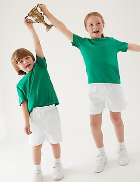 Unisex školní šortky zčisté bavlny, 2ks vbalení (2–16let)
