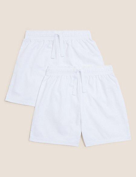 2 Pack Unisex Pure Cotton Shorts