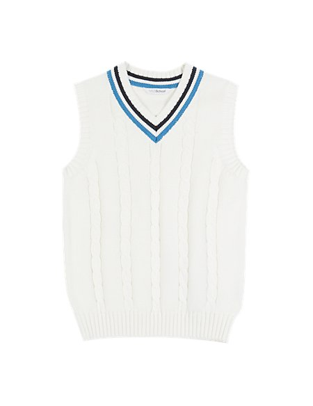 Boys' Cotton Rich Cricket Slipover with StayNEW™ & Active Sport™ (Older Boys)