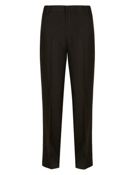 2 Pack Boys' Flat Front Supercrease™ Trousers with Triple Action Stormwear™