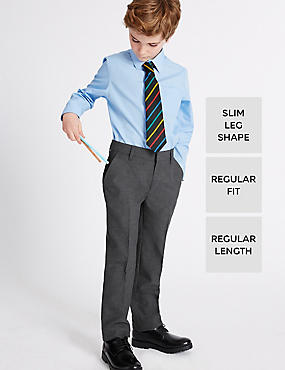 2 Pack Boys' Slim Leg Trousers
