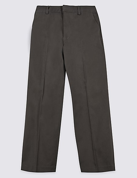 Boys' Pure Cotton Straight Leg Trousers