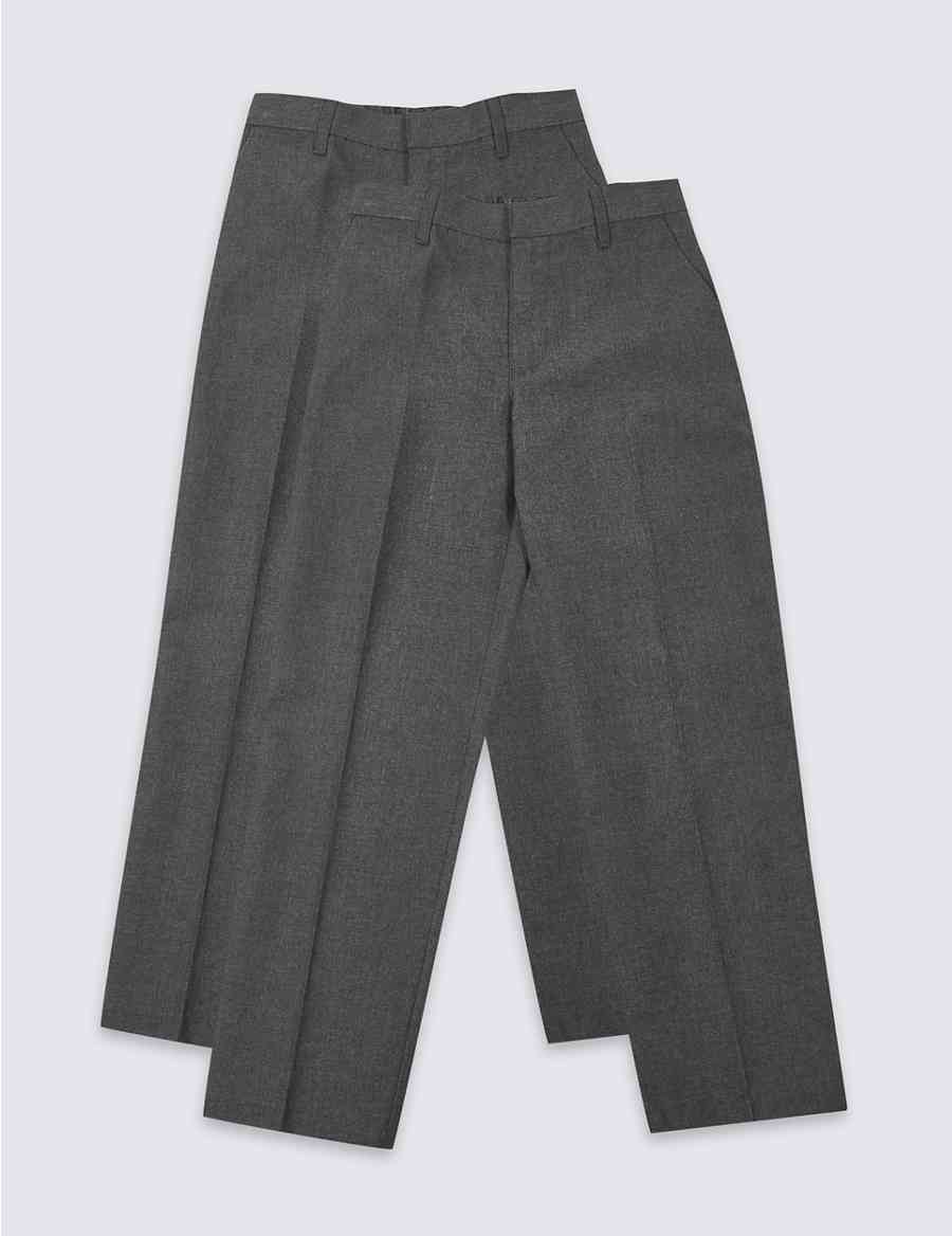 ebda91b03cce9 2 Pack Boys  Plus Easy Dressing Trousers