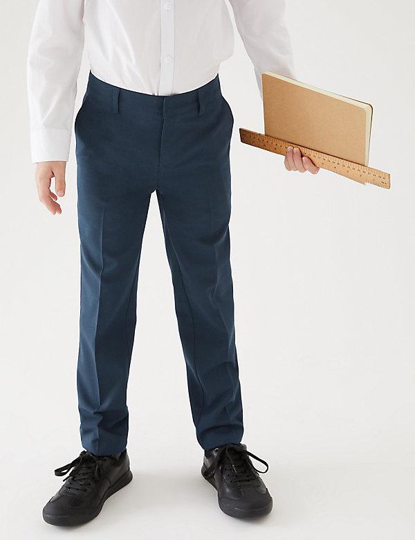 M/&S School Grey Slim Fit Flat Front Trouser 10-11 Years Adjustable Waist