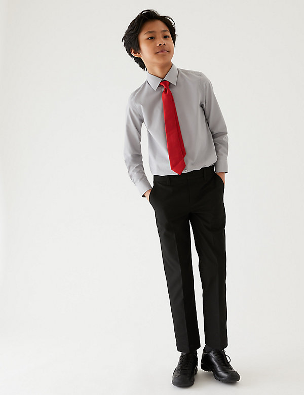 2pk Boys' Easy Dressing School Trousers (3-18 Yrs)