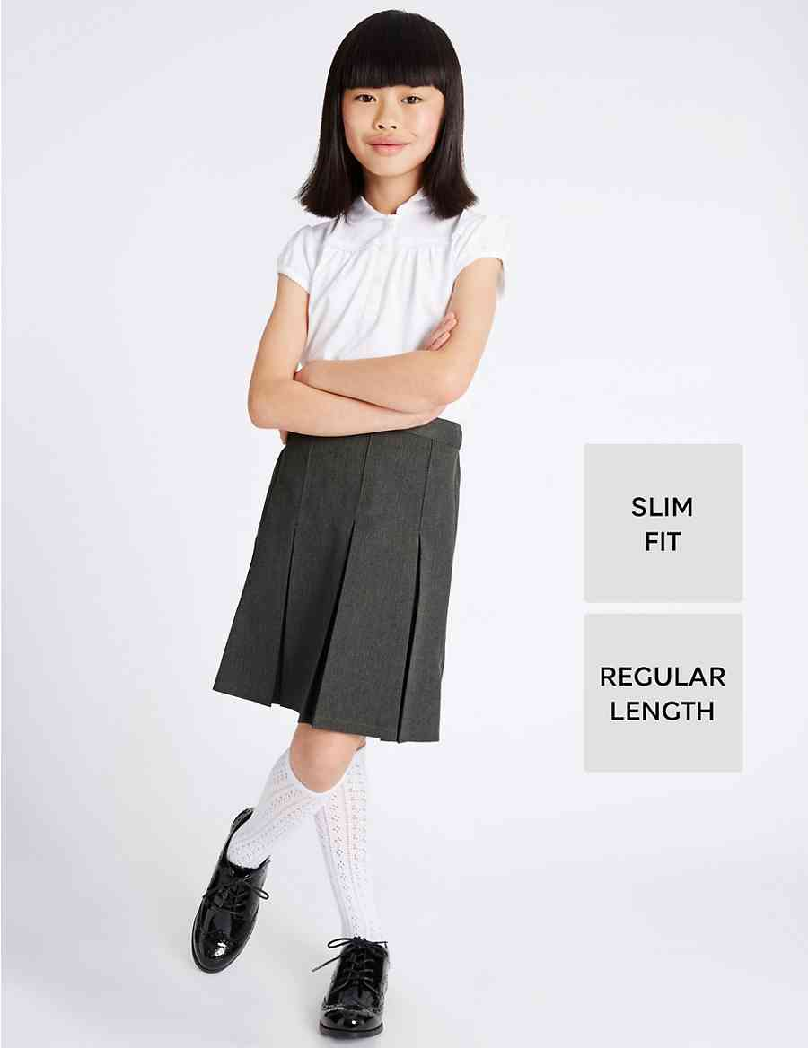 8bee545ce1e Girls  Slim Fit Permanent Pleated Skirt