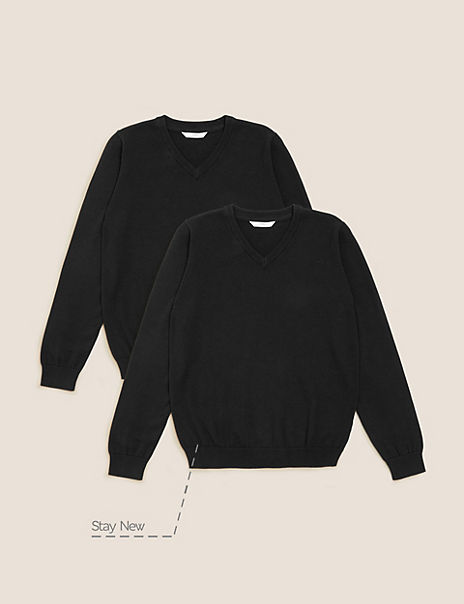 2 Pack Unisex Pure Cotton Jumper