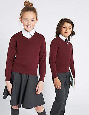Unisex Cotton Rich School Jumper (3-16 Yrs)