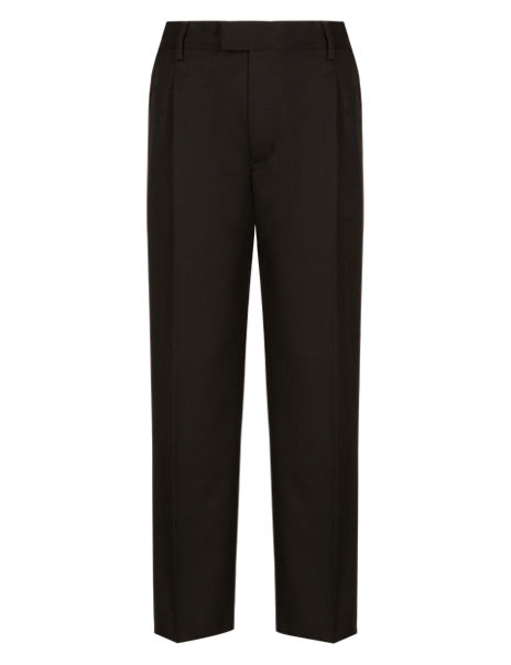 Boys' Pleat Front Supercrease™ Trousers with Stormwear+™