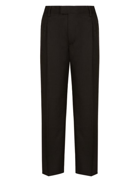 Boys' Supercrease™ Pleat Front Stain Resistance™ Trousers with Stormwear™