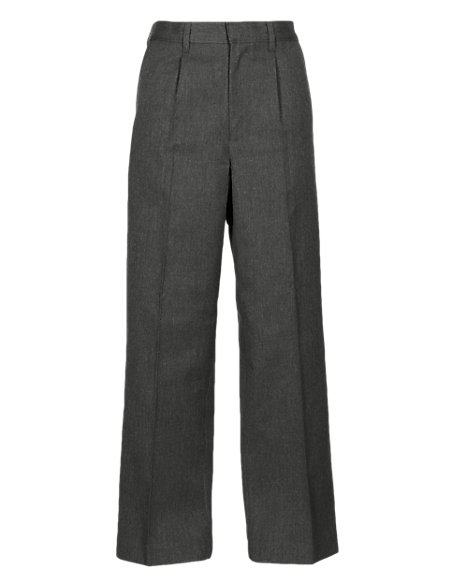 Plus Fit Boys' Pleat Front Classic Trousers with Supercrease™