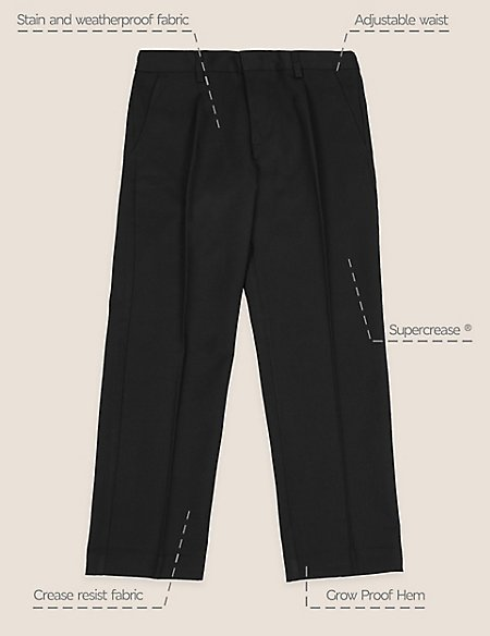 Boys' Plus Fit Regular Leg Trousers