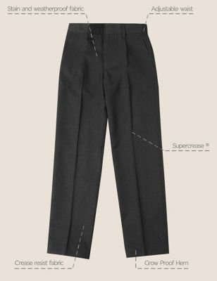 Boys' Regular Leg Slim Fit Trousers